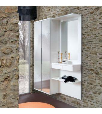 Maconi Mobile ingresso con armadio Composizione F09 da 128 cm serie Family collection