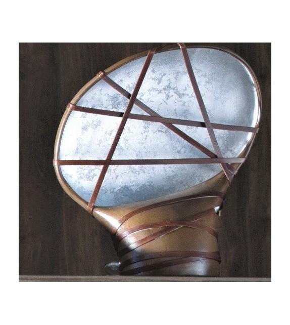 Lampada da tavolo in ceramica e pelle Jerv 40x20x42 Elite
