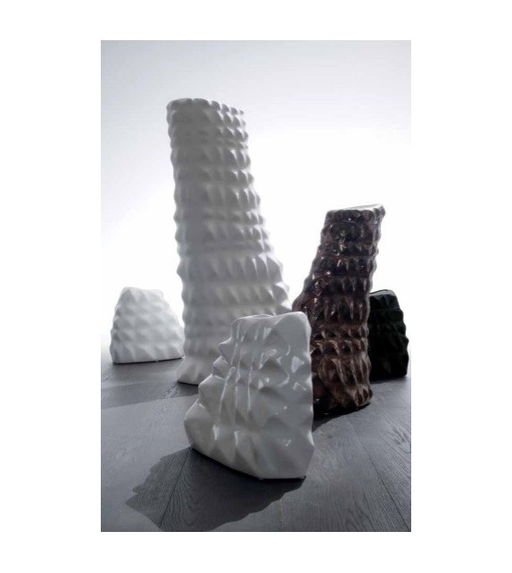 Vaso in Ceramica Sface L.35 P.19 H.21 cm Elite