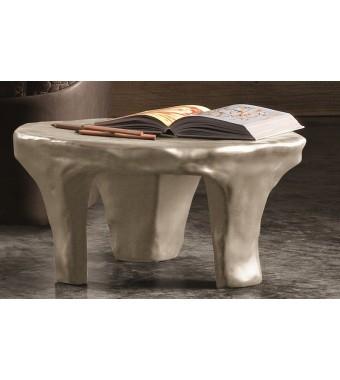 Tavolino/comodino in Ceramica Fred Elite diam. 69 xh 32 cm