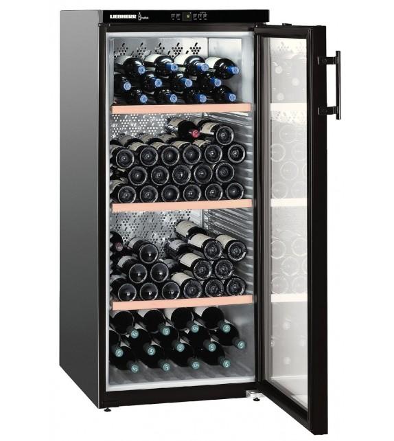 Liebherr Cantina vino WKb 3212 con porta in vetro e struttura nero da 60 cm