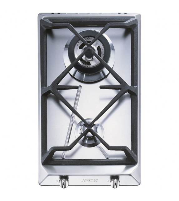 Smeg Piano cottura domino a gas SRV532GH3 finitura acciaio inox da 30cm