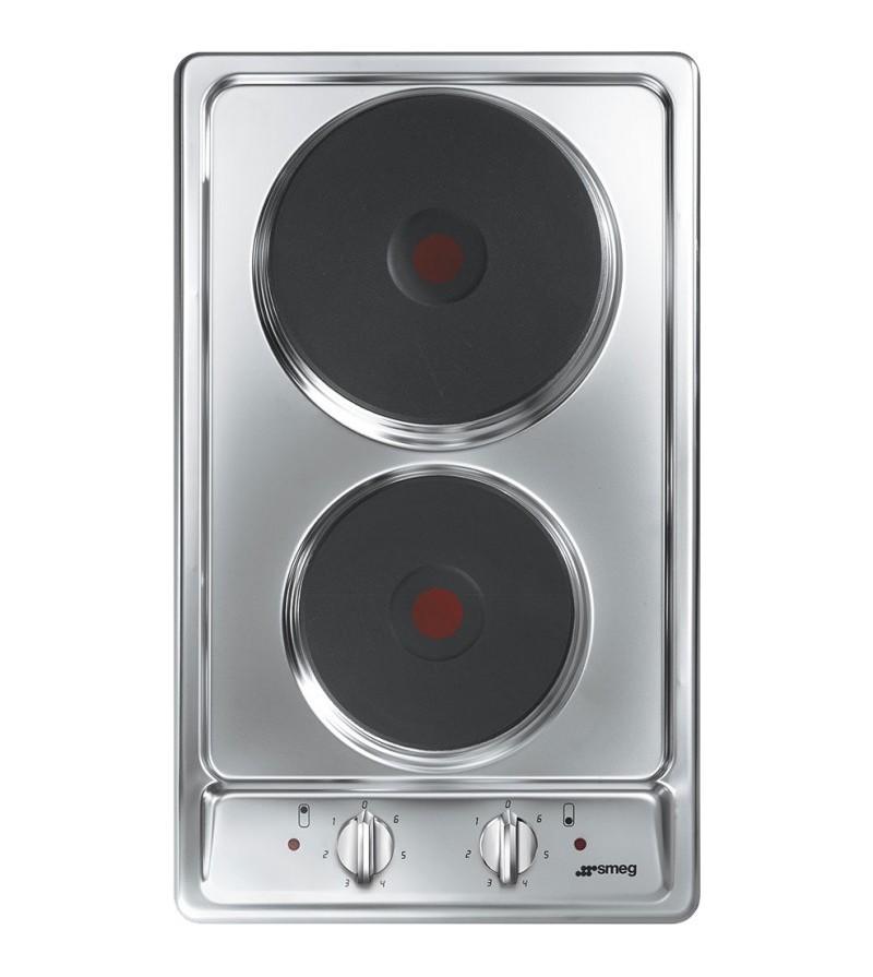 Smeg Piano cottura elettrico S232XC-1 finitura inox da 30cm | Piani ...