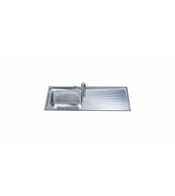 Smeg Lavello ad una vasca con gocciolatoio a sinistra SGE116.1S finitura acciaio inox spazzolato da 116cm