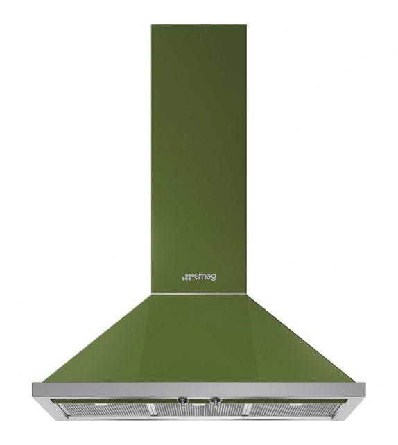 Smeg Cappa a parete KPF9OG finitura verde oliva da 90cm