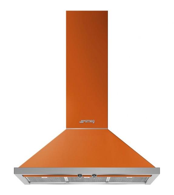 Smeg Cappa a parete KPF9OR finitura arancione da 90cm