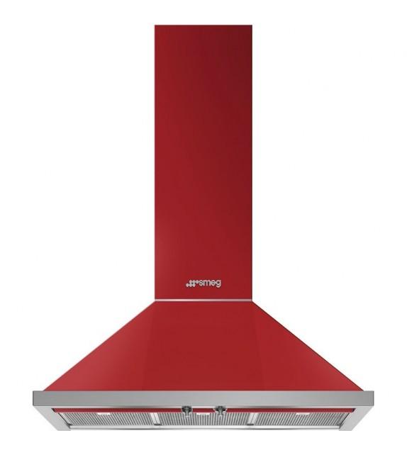 Smeg Cappa a parete KPF9RD finitura rosso da 90cm