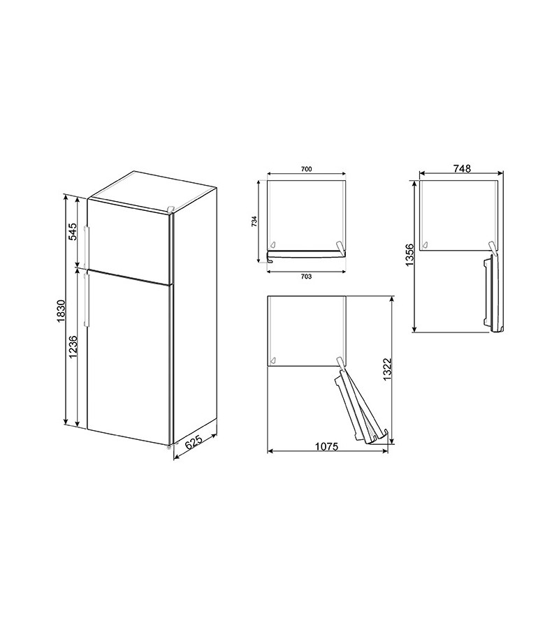 Smeg frigorifero a due porte fd43pxnf4 finitura acciaio for Frigoriferi a due porte
