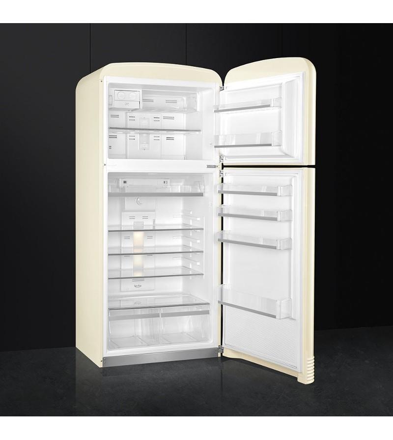 Smeg frigorifero a due porte fab50rcrb finitura panna da for Frigoriferi a due porte