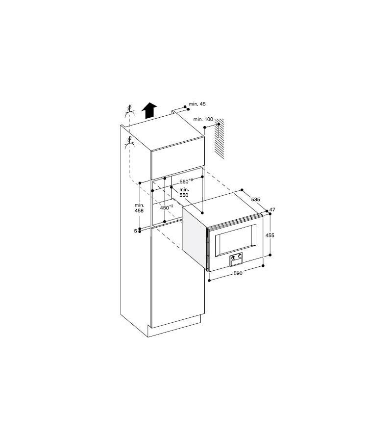 Gaggenau forno ad incasso combinato a microonde bm 455 100 - Mobile porta forno microonde ...