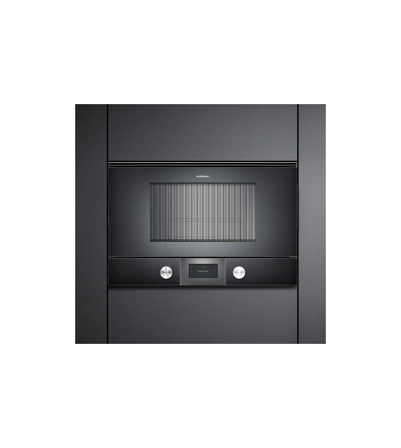 Gaggenau forno a microonde ad incasso bmp 225 100 con cerniere a sinistra finitura antracite da - Forno a microonde a incasso ...