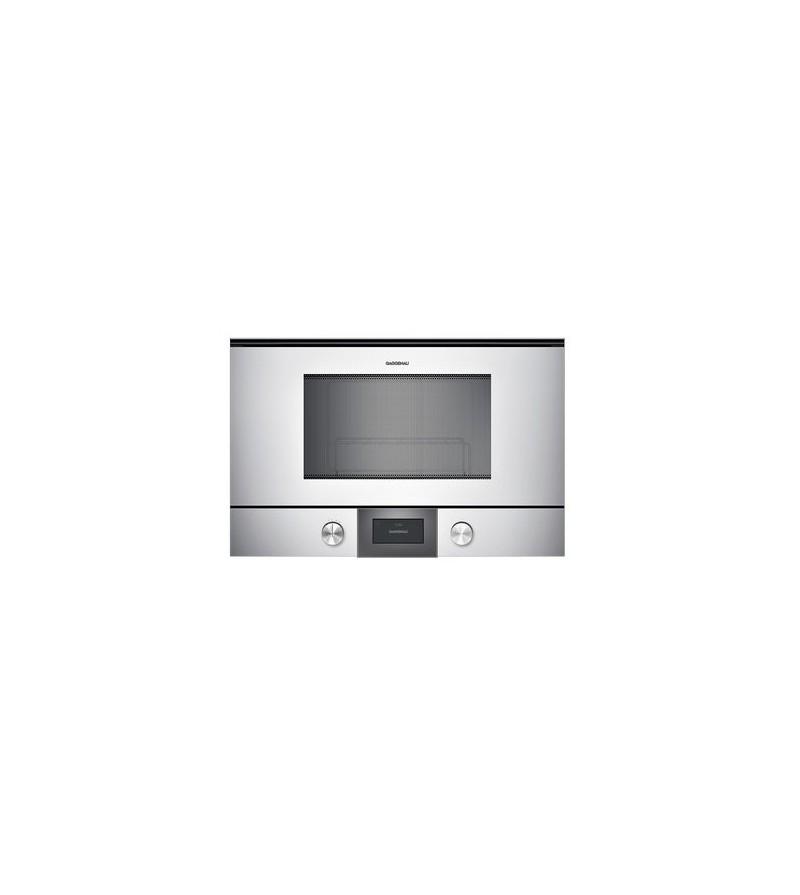 Gaggenau forno a microonde ad incasso bmp 225 130 con cerniere a sinistra finitura silver da - Forno a microonde a incasso ...