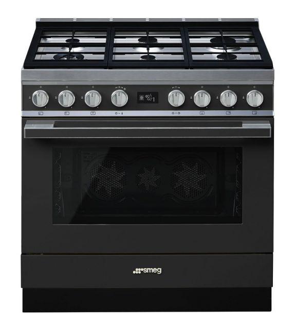Smeg Cucina CPF9GMAN con 6 zone cottura finitura antracite da 90cm