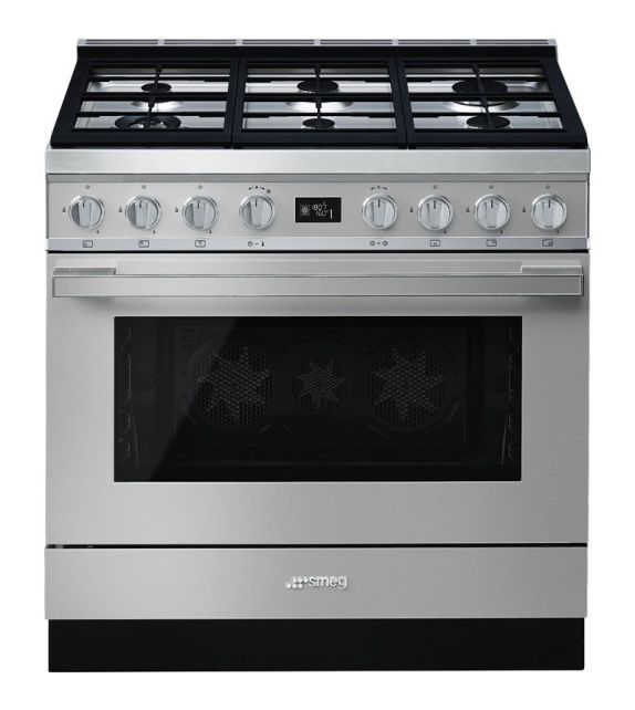 Smeg Cucina CPF9GMX con 6 zone cottura finitura inox da 90cm