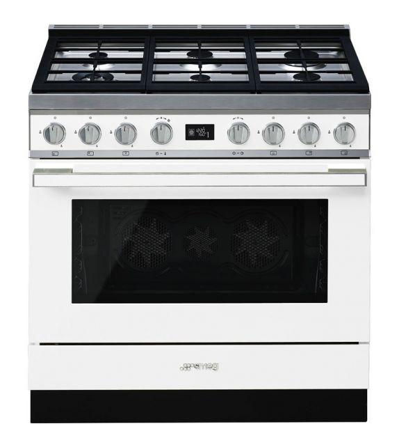 Smeg Cucina CPF9GPWH con 6 zone cottura finitura bianco da 90cm