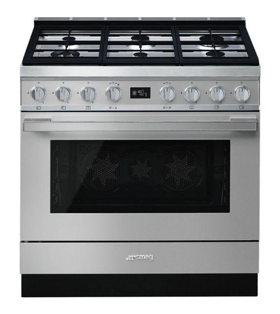 Smeg Cucina CPF9GPX con 6 zone cottura finitura inox da 90cm