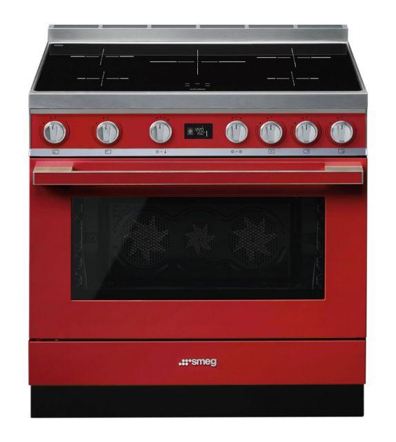 Smeg Cucina CPF9IPR con piano cottura ad induzione finitura rosso da 90cm