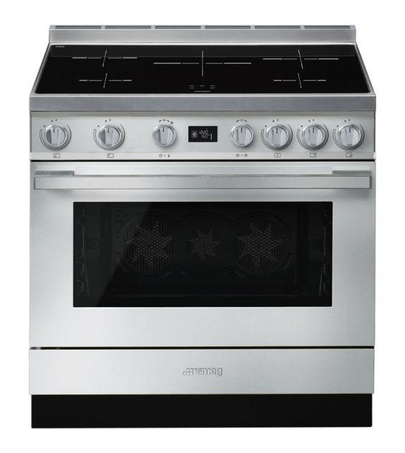Smeg Cucina CPF9IPX con piano cottura ad induzione finitura inox da 90cm