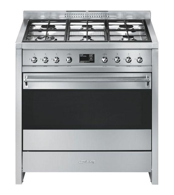 Smeg Cucina A1-9 con 6 zone cottura finitura acciaio inox da 90cm