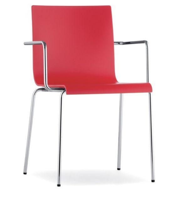 Pedrali sedia con braccioli Kuadra XL 2404