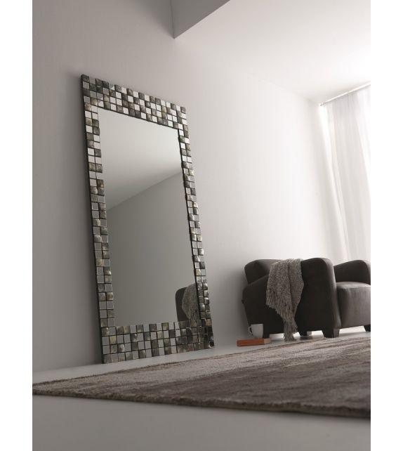 Specchiera rettangolare Splendor Elite con mosaico in madreperla 100x4x200 cm