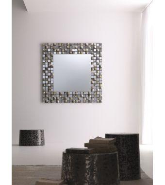 Specchiera rotonda Splendor Elite con mosaico in madreperla diam. 120 cm
