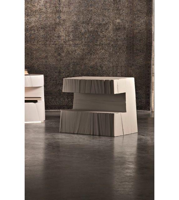 Comodino Tronky Rettangolare grigio 130x52x70 cm Elite