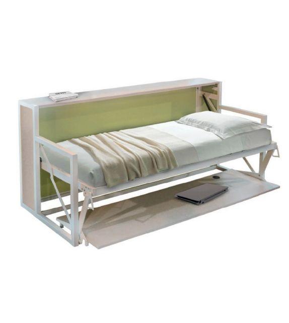 Smartbeds Letto/Scrivania singolo B-ESK Orizzontale S da 205x95 cm