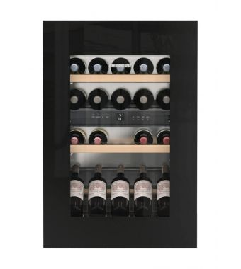 Liebherr Cantina vino sottopiano da incasso EWTgb 1683 con porta in vetro nero da 56 cm