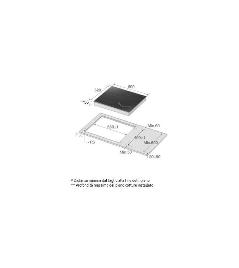 Samsung Piano cottura ad induzione NZ64N9777GK finitura ...