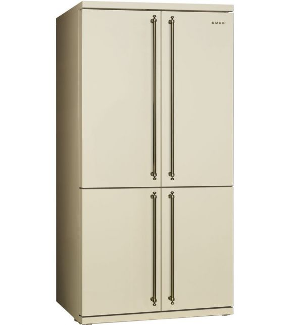 Smeg frigorifero quattro porte fq60cpo finitura panna da for Frigorifero 3 porte