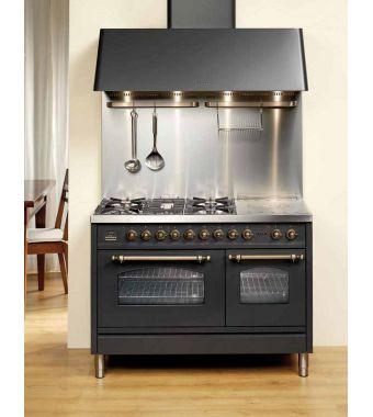 Ilve Cucina PSN120 Plus con piano cottura a 7 fuochi da 120cm