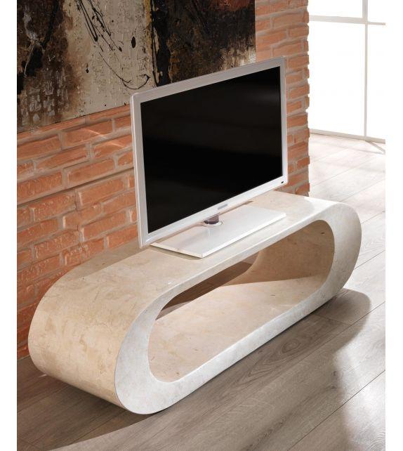 Stones Tavolino Porta TV 1 FS/004/WA White Agata