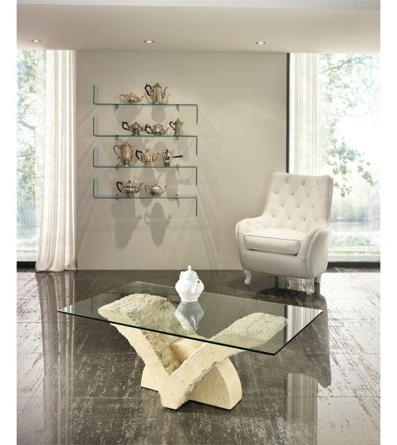 Stones Tavolino Papillon FS/035/M/A finitura White Mactan