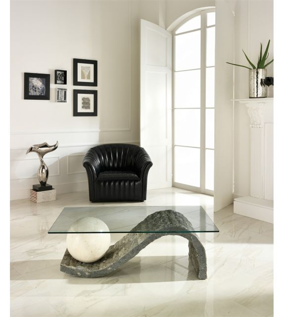 Stones Tavolino Onda FS/130/GWA/A Gray Stone