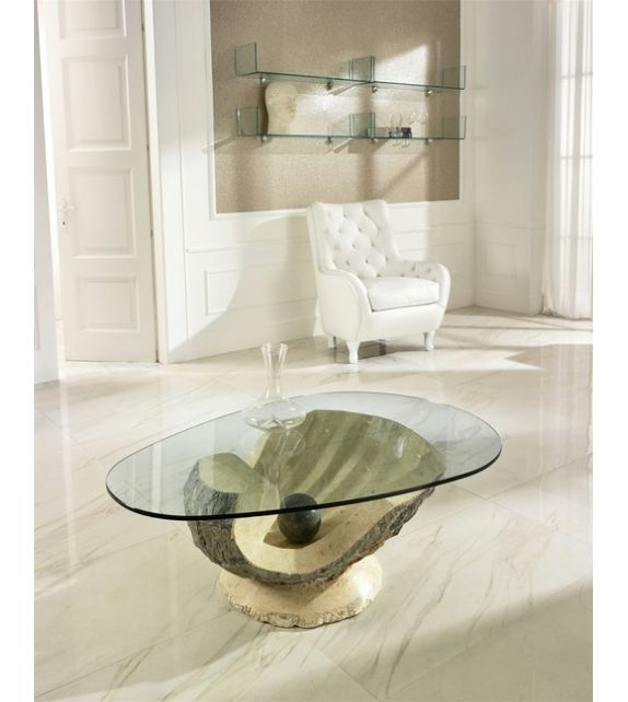 Stones Tavolino Venere FS/091/MG/A White Mactan / Gray Stone
