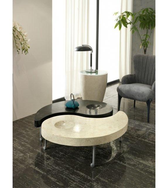 Stones Tavolino Yin and Yang FS/024/WABS/A White Agata/Black Stone