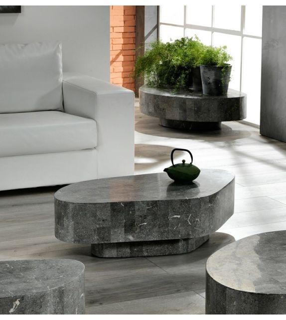 Stones Tavolino Trapezio FS/141/G Gray Stone