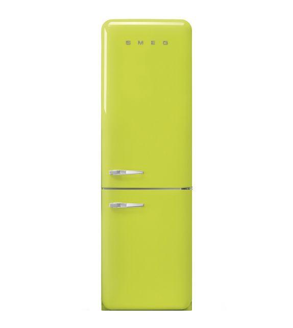 Smeg Frigorifero combinato anni\'50 FAB32RLI3 finitura verde lime da ...