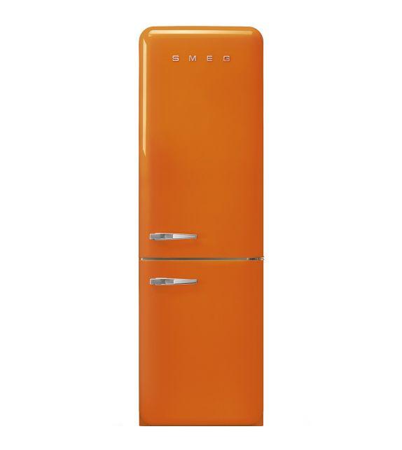 Smeg Frigorifero combinato anni\'50 FAB32ROR3 finitura arancione da 60 cm