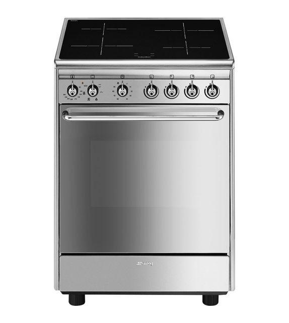 Smeg Cucina CX60ISV9 con forno ventilato e piano cottura induzione finitura acciaio inox da 60x60 cm