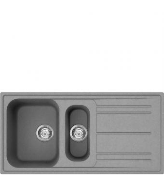 Smeg Lavello ad una vasca con vaschetta e gocciolatoio LZ102CT finitura cemento da 100 cm