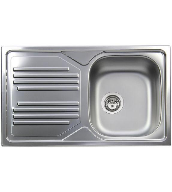 Smeg Lavello una vasca con gocciolatoio a sinistra LYP861S finitura acciaio inox da 86 cm