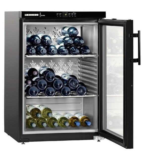 Liebherr Cantina vino sottotop WKb 1812 con porta in vetro e struttura nero da 60 cm