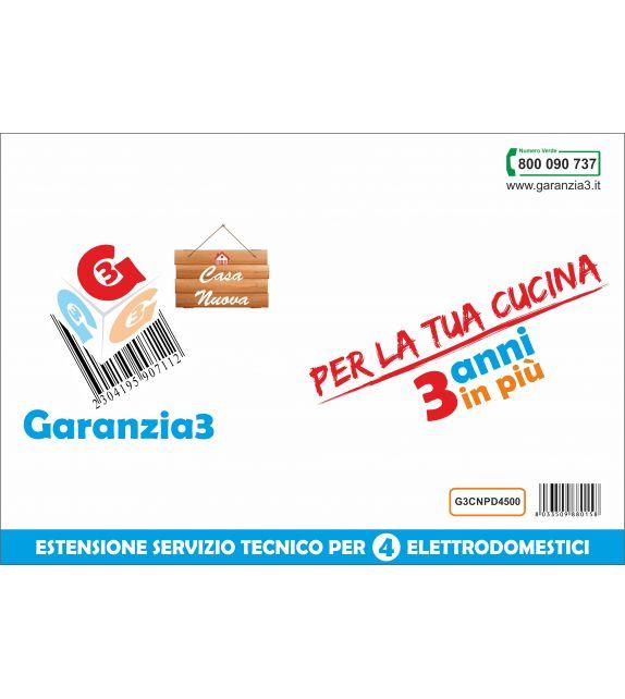 Garanzia3 Casa Nuova per 4 elettrodomestici - Massimale copertura 1500 euro