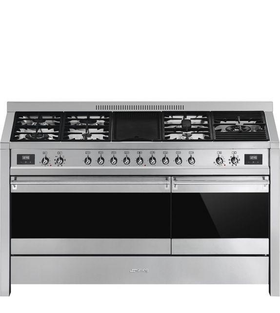 Smeg Cucina A5-81 con 7 zone cottura finitura acciaio inox da 150cm