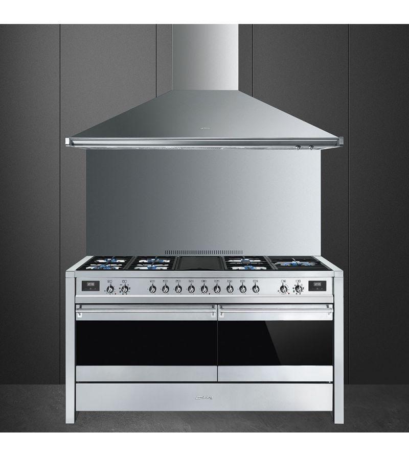 Smeg Cucina A5-81 con 7 zone cottura finitura acciaio inox da 150cm ...