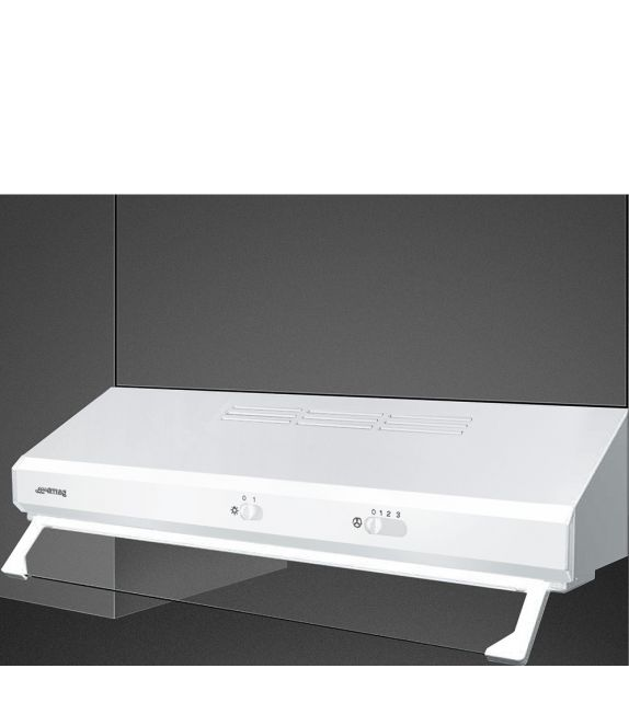 Smeg Cappa integrata sottopensile a vista KSEC61BE2 finitura bianco da 60 cm