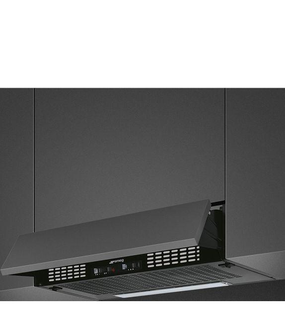Smeg Cappa integrata sottopensile a scomparsa KSEIR62NE2 finitura nero da 60 cm