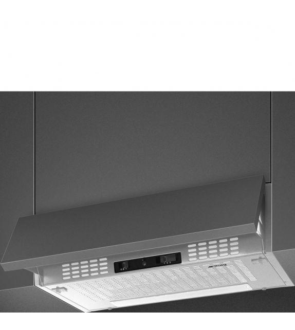 Smeg Cappa integrata sottopensile a scomparsa KSEIR62SE2 finitura silver da 60 cm